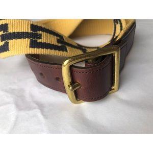 Coach Accessories - COACH HARNESS LEATHER WOOL BRASS BELT SZ 36